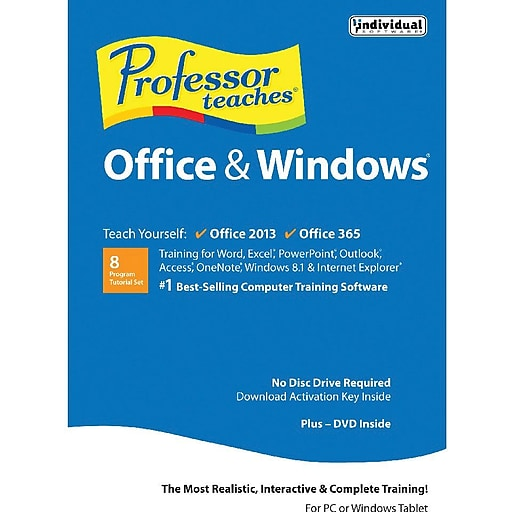 Individual Software: Individual Software Professor Teaches Office 2013, 365 And