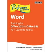 Individual Software Professor Teaches Word for Office 2013 and Office 365 for Windows (1 User) [Download]