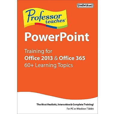 Individual Software Professor Teaches PowerPoint for Office 2013 and Office 365 for Windows (1 User) [Download]