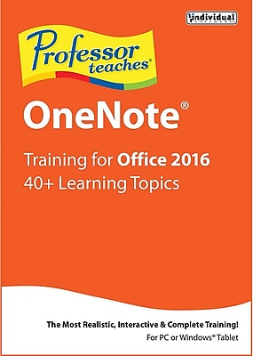 Individual Software Professor Teaches OneNote 2016 for Windows (1 User) [Download] 1965966