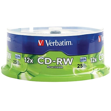 Verbatim CD-RW 12X High Speed 25pk Spindle