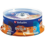 Verbatim DVD-R Life Series 16X Color 25Pk Spindle