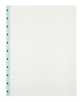 Office by Martha Stewart™ Discbound™ Notebook Filler Paper, Letter-Size, 50 Sheets, Blue (44460)