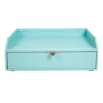 Office by Martha Stewart™  Stack+Fit™ Inbox with Drawer, Blue (28801)