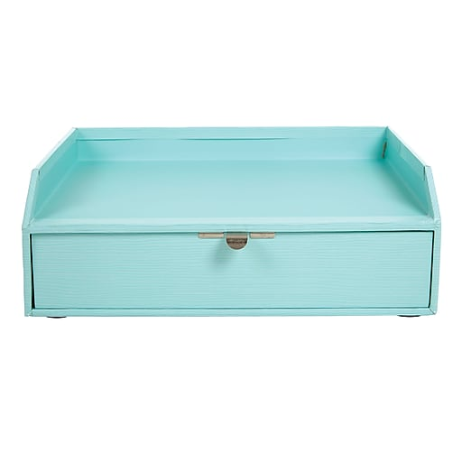 Swell Office By Martha Stewart Stack Fit Inbox With Drawer Blue 28801 Home Interior And Landscaping Pimpapssignezvosmurscom