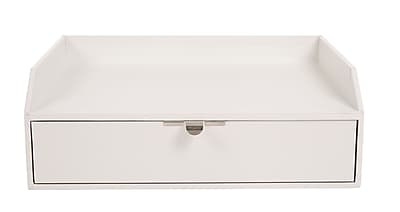 Office by Martha Stewart™ Stack+Fit™ Inbox with Drawer, White (28791)