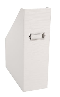 Office by Martha Stewart™ Stack+Fit™ Magazine File, White (28788)