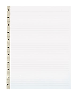 Office by Martha Stewart™ Discbound™ Notebook Filler Paper, Letter-Size, 50 Sheets, Gray (28868)