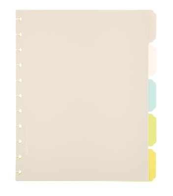 Office by Martha Stewart™ Discbound™ Junior Notebook Dividers, 5 Tab, Multi-Colored (44472)