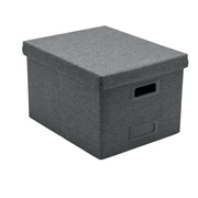Poppin Dark Gray Large Storage File Box