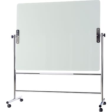 MasterVision® Glass Revolving Easel, Silver, 70.25