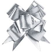 "Shamrock Berwick/Offray Bow Magic Pull Bow - Glitter Butterfly 2"", Silver"