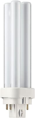 Philips Compact Fluorescent PL-C Lamp, 13 Watts, 4-Pin, Neutral White, 10PK