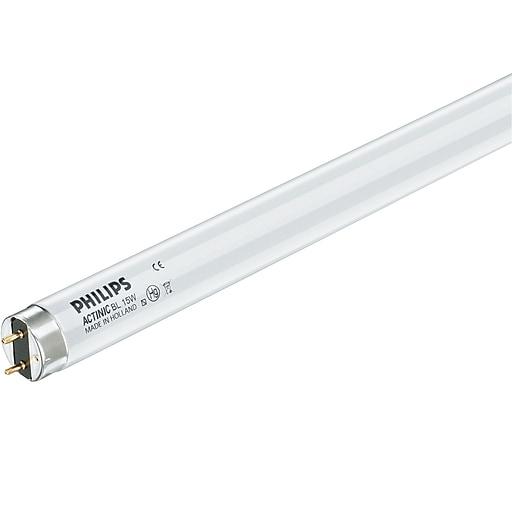 Philips Linear Fluorescent T8 Lamp, Actinic Black Light, 15 Watts, 25PK