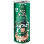 Perrier® Sparkling Natural Mineral Water, Pink Grapefruit, 8.45 oz. Slim Cans, Pack of 10 (12277406)