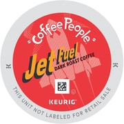 Coffee People® Jet Fuel Dark Roast Coffee K-Cups®, Jet Fuel, 0.4 oz, 96/Carton (DIE-60052103)