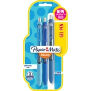 Paper Mate® InkJoy® Gel Pens, Medium Point, Blue Assorted, 3/Pack (1951730)