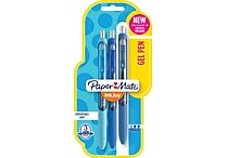 Paper Mate® InkJoy® Gel Pens, Fine Point, Blue Assorted, 3/Pack (1968615)