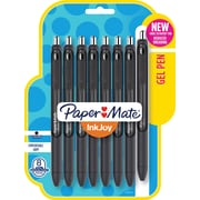 Paper Mate® InkJoy® Gel Pens, Medium Point, Black, 8/Pack (1958856)