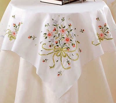Stamped Cross Stitch Table Topper 40