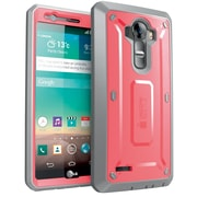 SUPCASE LG G4 Case Unicorn Beetle Pro Rugged Holster Case, Pink Gray