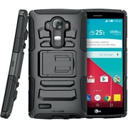 i-Blason LG G4 Case Prime Dual Layer Holster Case, Black
