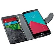 i-Blason LG G4 Case Leather Book Wallet Case, Black