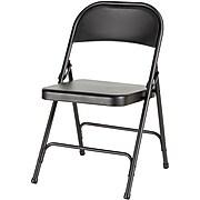Alera® Steel Folding Chair, Graphite, 4/Carton