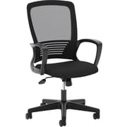 HON Mesh High-Back Chair, Center-Tilt, Fixed Arms, Black Frame, Black Mesh NEXT2018 NEXT2Day