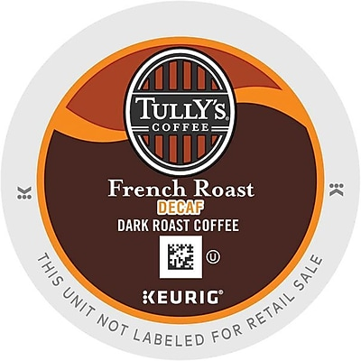 Tully's Coffee French Roast Decaf Coffee K-Cups, 96/Carton (192419) GMT192419CT