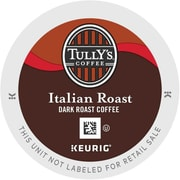 Tully's Coffee® Italian Roast Coffee K-Cups®, Italian Roast, 96/Carton (193019)