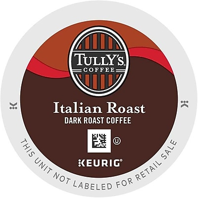 Tully's® Italian Roast Coffee, Keurig® K-Cup® Pods, Dark Roast, 96/Carton (700288)