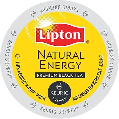 Lipton® Natural Energy Premium Black Tea, Keurig® K-Cup® Pods, 24/Box (86103024)