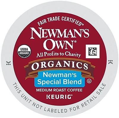 Newman's Own Organics Special Blend Coffee K-Cups, 100 Count (35508)