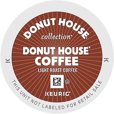 Donut House® Coffee, Keurig® K-Cup® Pods, Medium Roast, 96/Carton (6534)