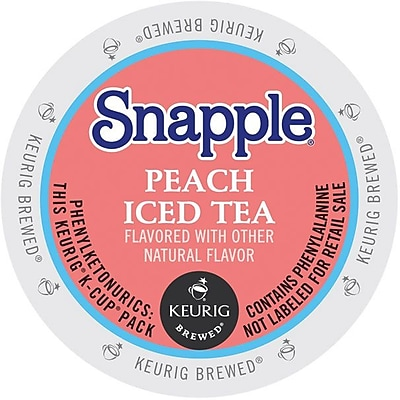 Keurig® K-Cup® Snapple® Iced Tea, Peach, 22/Pack