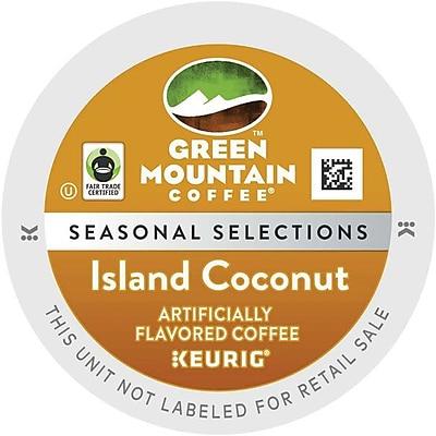 Keurig K-Cup Green Mountain Island Coconut Coffee, Regular, 96/Carton (6720)