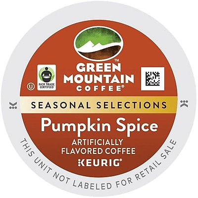 Green Mountain® Pumpkin Spice Coffee, Keurig® K-Cup® Pods, Light Roast, 24/Box (6758)