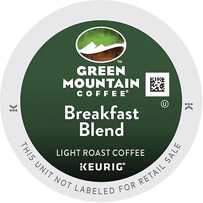 Green Mountain® Breakfast Blend Coffee, Keurig® K-Cup® Pods, Light Roast, 96/Carton (GMT6520CT)
