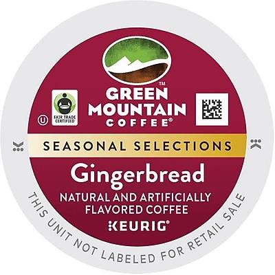 Keurig K-Cup Green Mountain Gingerbread Coffee, Regular, 24/Pack 737188