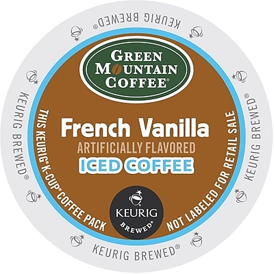 Keurig K-Cup Green Mountain French Vanilla Iced Coffee, Regular, 22/Pack 324863