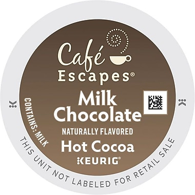 Cafe Escapes® Milk Chocolate Hot Cocoa, Keurig® K-Cup® Pods, 16 Count