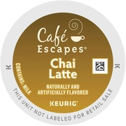 Cafe Escapes® Chai Latte K-Cups®, 96/Carton (6805)