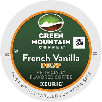 Green Mountain Coffee Roasters French Vanilla Decaf Coffee K-Cups, French Vanilla Decaf, 96/Carton (7732)