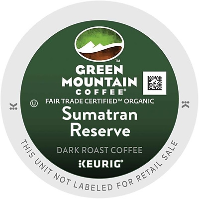 Green Mountain® Sumatran Reserve Coffee, Keurig® K-Cup® Pods, Dark Roast, 96/Carton (GMT4060CT)