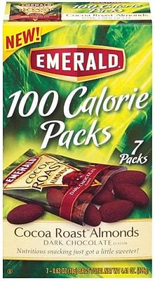 Emerald® 100 Calorie Pack Dark Chocolate Cocoa Roast Almonds, .63 oz. Packs, 7 Packs/Box