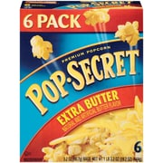 Pop Secret Microwave Popcorn, Extra Butter, 3.2 oz. Bags, 6 Bags/Box