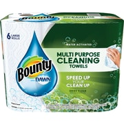 Bounty® with Dawn, 49 Sheets/Roll, 6 Large Rolls/Case (92380)