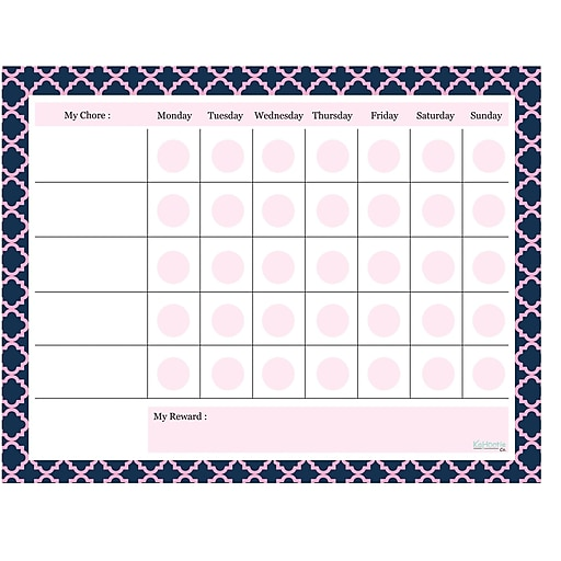 "Kahootie Co™ Chore Chart Notepad, 11"" x 8.5"", 50 sheets per pad, Navy  (KCNP06)"