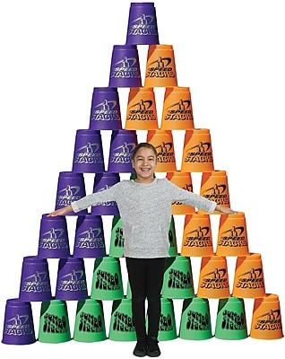 Speed Stacks® Jumbo Stack Pack, Purple, Orange & Green, 36/Pack